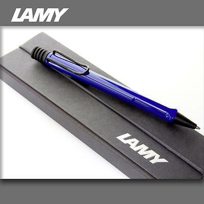 LAMY Safari Blue - Black Clip Ballpoint Pen