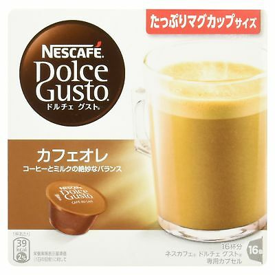 Nescafe Dolce Gusto dedicated capsule cafe au lait 16 cups