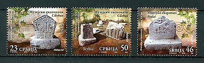 Serbia 2016 MNH Museum Exhibits Tombstones 3v Set Artefacts Stamps