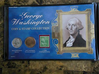 George Washington Commemorative - Coin Currency & Stamp Collection +silver cert.