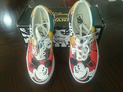 Vans era disney Kids Youth Boys Girls Mickey Mouse & Friends Shoes size 2.0 NEW