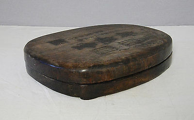 Large  Chinese  Ink  Stone  With  Wood  Box      M2103