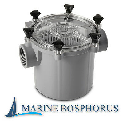 Universal Sea Water Strainer Filter Side inlet or Bottom Inlet Lightweight Boat