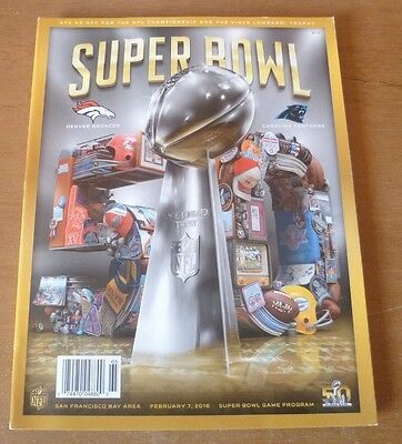 2016 - Denver Broncos v Carolina Panthers, Super Bowl L Programme.