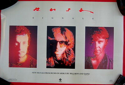 Rush poster 1982 SIGNALS mint condition