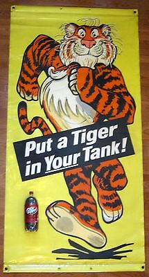 ESSO Gas Station Sign 1960s Put a Tiger In Your Tank Vinyl Banner 7 ft 42x84