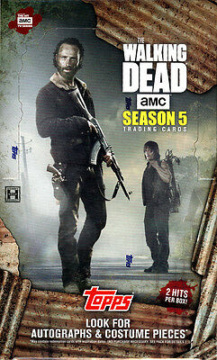2016 Topps The Walking Dead Season 5 Hobby Trading Cards New Factory Sealed Box