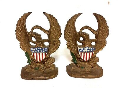 Heavy Cast Iron American Eagle Bookends