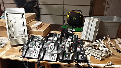 Lot of (2) Nortel Norstar ICS Phone Systems w/(15) Phones