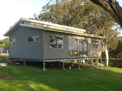 DIY KIT - The SEASCAPE 60 Granny Flat with Galvanised Chassis - 60m2 - 2 Bedroom