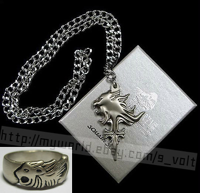FREE Shipping Final Fantasy VIII Squall Necklace & Ring Griever Cosplay FF XV 15