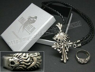 Final Fantasy VIII Squall Necklace & Ring Cosplay Kingdom Hearts FF8 XV 15