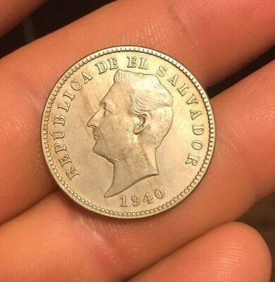 El Salvador 10 Centavos 1940 Key Date Scare Condition