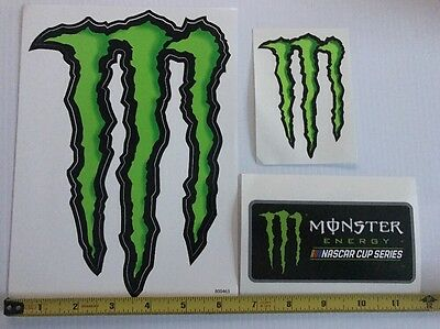 Monster Energy Nascar Cup Series Decals 3 Stickers