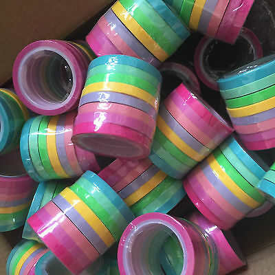 Washi Tape Thin Skinny Gelati 8 Roll Set Each 5Mm Wide X 5 Mtrs Scrap Craft Plan