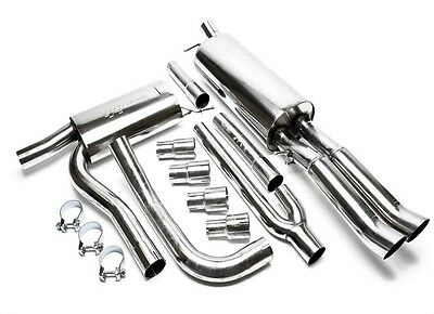 Size A STAINLESS STEEL EXHAUST FULL SYSTEM + ABE AUDI A4 B5 2x76DTM New