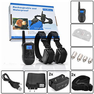 Petrainer Dog Training Shock Collar Waterproof Rechargeable with Electric Remote