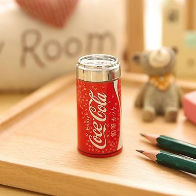 Supplies Student Mini Cute Pencil Sharpener Drink Can Cola