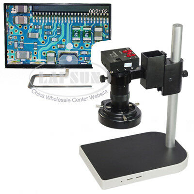 16MP 1080P 10X -100X HDMI Digital Industry Microscope Set Camera Video Zoom Lens