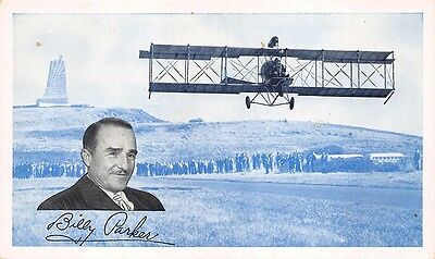 Phillips 66 Manager Billy Parker Aviation Products Wright Brothers Postcard