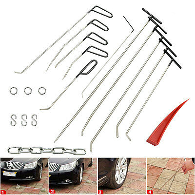 Paintless Dent Repair PDR Tools  11pcs Rods Pull Kits Hail Removal Auto Body Set