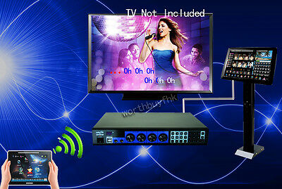 """KTV Karaoke Player Jukebox 3TB HD+10""""Touch Pad +19'Touch Screen With Songs HDMI"""