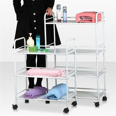 3/4 Shelf Large Beauty Salon Trolley Cart Storage Dentist Wax Tattoo Treatments