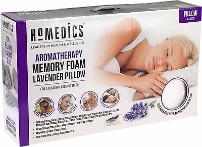 Homedics memory foam Lavender Luxury Pillow 70 x 40cm Leaders in Health