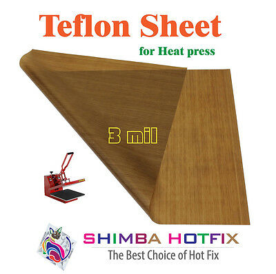 15X15 Teflon Sheet for Heat Press  3 mil (0.003 inch) Flat shipping Any Quantity