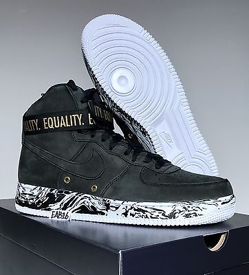 hot sale online 56fed baf2b NIKE AIR FORCE 1 One Hi BHM 920787 001 Black History Month AF1 High Top  Equality