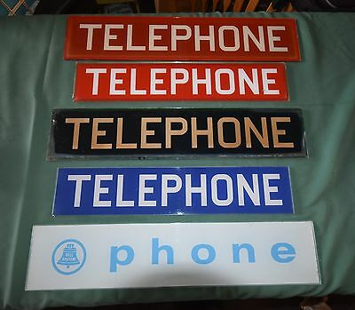 Original 1960S Vintage Glass Telephone Booth Insert Panel Signs