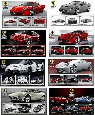 Ferrari  Cars Car 25 Souvenir Sheets Mnh Imperforated