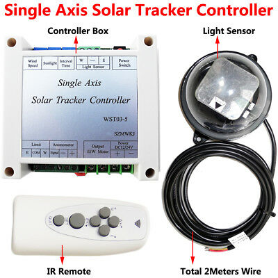 Single Axis Solar Panel Tracker Tracking System Electronic Controller +IR Remote