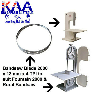 Butchers Bandsaw Blade 2000 x 13mm x 4 TPI to suit Fountain 2000 & Rural Bandsaw