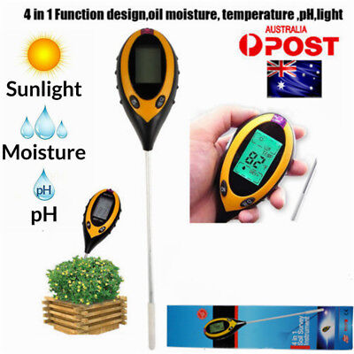 PRO.4 in 1 PH Soil Tester Moisture Sunlight Light Meter for Garden Plant Lawns