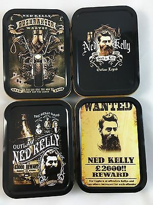 Ned Kelly Outlaw Assorted Designs Tobacco Cigarette Stash Tin Box