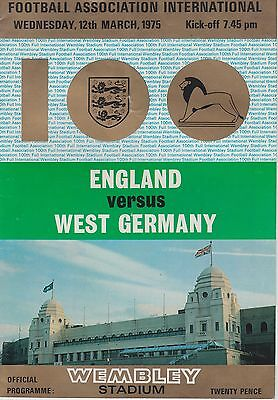 England V West Germany ~ 12 March 1975 (2)