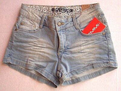 LEMMI Girl Hot Pant bleached blue denim Gr. 140 - 176 MID  UVP 29,95 €