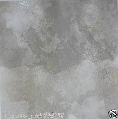 60 x Vinyl Floor Tiles - Self Adhesive - Bathroom Kitchen BNIB Marble sto 314591