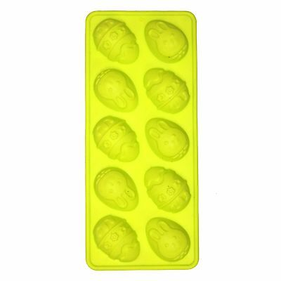 10 x Mini Easter Egg w/ Bunny Chocolate Tray Mould Mold Homemade DIY Cooking