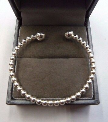 New Sterling Silver.925 Baby Torque Ball Bangle 4 grams  * Christening Gift *