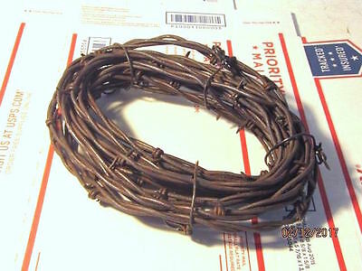 10' Feet Of Rusty Barbed Wire For Crafts Cowboy Western Rusted Decor Craft Metal