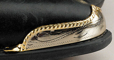 New! Western Cowboy Boot Tips Rand - Brass & Silver Rope Edge
