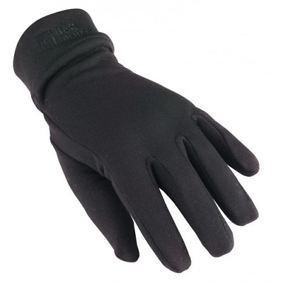 Trekmates 100% Silk Liner Lining Gloves - Black