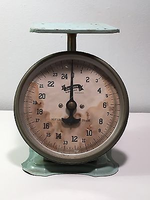Vintage Green Jay Bee Baby Scale To 25 lbs Rustic Shabby Country Cottage Decor