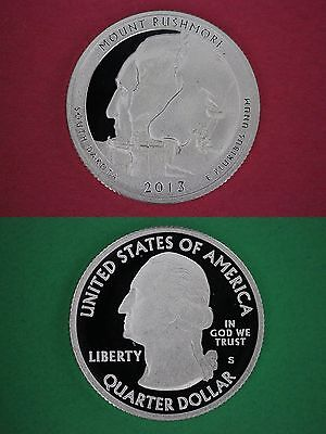 Clad 2013 S Mount Rushmore Proof Ultra Deep Cameo Quarter Flat Rate Shipping