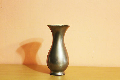 Vintage Antique Royal Holland Pewter KMD Daalderop Vase Dutch Rustic Primitive