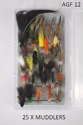 X25 Muddlers, Assorted Fly Fishing Flies, Sizes 10/12, Complete With Box!