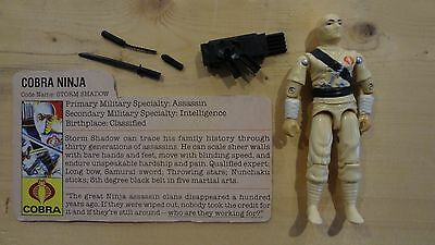 1984 GI Joe Cobra Storm Shadow w/File Card! Vintage Hasbro Action Figure -P