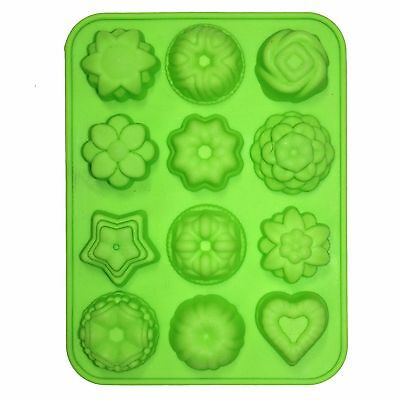 12 x Flowers & Heart Mini Chocolate Tray Mould Mold Homemade Cooking Activities